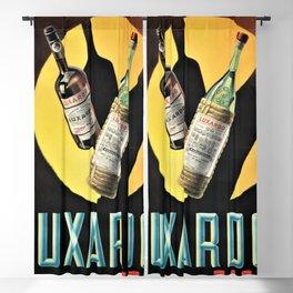 1945 Cherry Brandy Luxardo Zara Aperitif Alcoholic Beverage Advertisement Vintage Poster Blackout Curtain