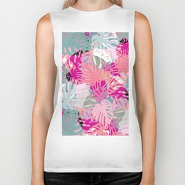 Tropical Pinks Biker Tank