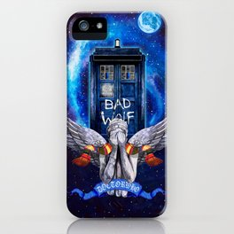 The Angel with Tardis iPhone Case