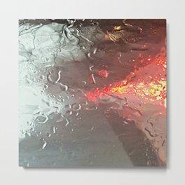 Raindrops on my windshield Metal Print