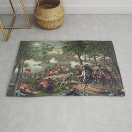 Civil War Battle of Chancellorsville April 30 to May 6, 1863 Rug