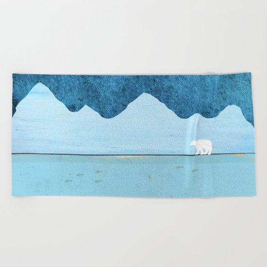 Fishing in the Arctic Beach Towel