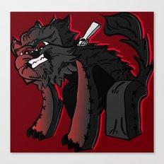 Curse of the furry Wereblock - Minecraft Avatar Canvas Print