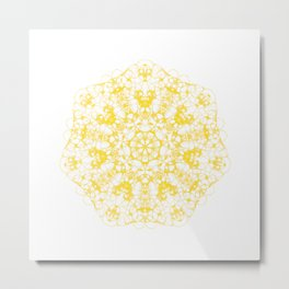 Magic Seven Mandala eden spirit yellow Metal Print