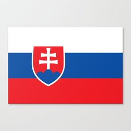 Slovakian Flag - High Quality Image Canvas Print