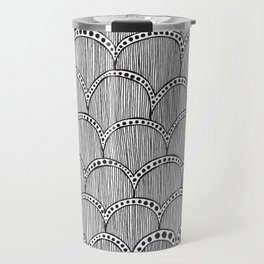 Hand Drawn Doodle Pattern Travel Mug