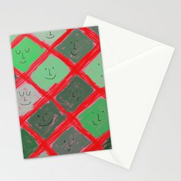 Cute pattern with smiling faces Stationery Cards