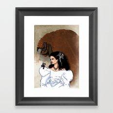 Beauty and Beast Framed Art Print