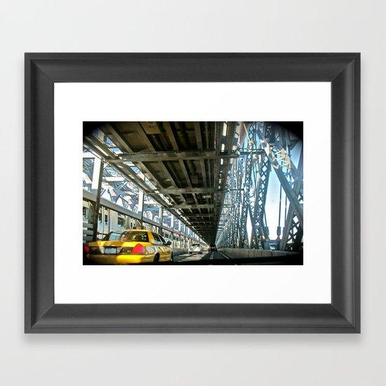 Washington Bridge, NYC Framed Art Print