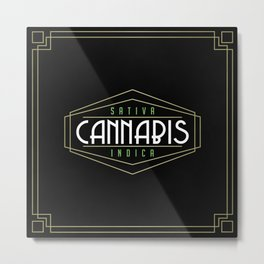 Art Deco Cannabis Metal Print