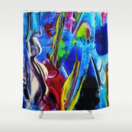 Abstract in acrylic Shower Curtain
