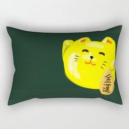 Neko Cat Yellow Rectangular Pillow