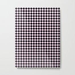 Black and Pink Lace Pink Diamonds Metal Print