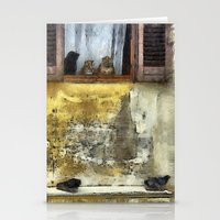 gossip girl Stationery Cards featuring Cats Gossip by Nikolay Raikov