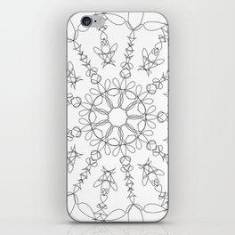 the flower we made iPhone Skin