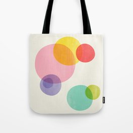 Rainbow Bubbles Tote Bag
