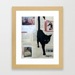 Cat Noir Series #4 Framed Art Print