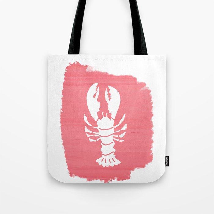 Block Print Lobster Tote Bag