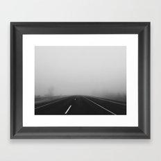 Highway fog Framed Art Print
