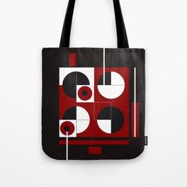 Geometric/Red-White-Black  1 Tote Bag