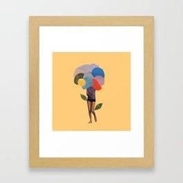 i dream of you amid the flowers Framed Art Print
