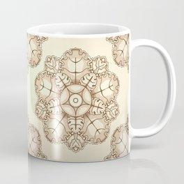 Beige elegant ornament fretwork Baroque style Coffee Mug