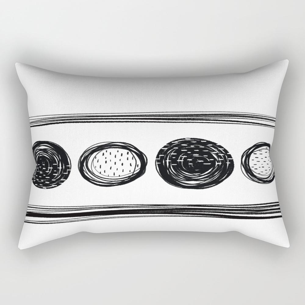 Black White One Rectangular Pillow RPW9062757