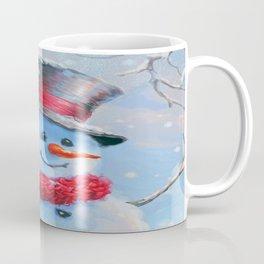 Snowman in the Woods Coffee Mug