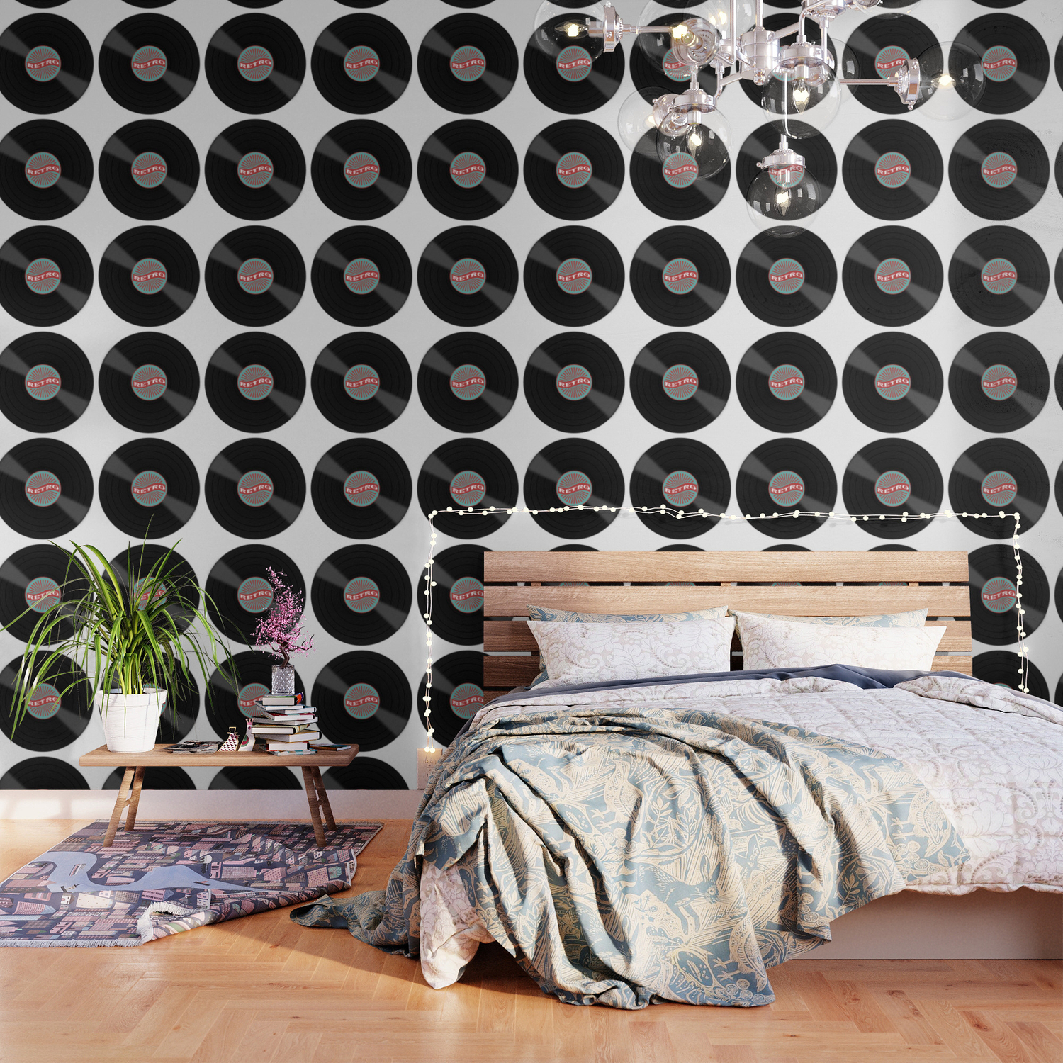 Retro Vinyl Record Wallpaper By Inspiredimages Society6