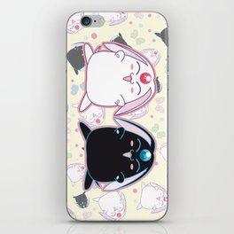 Black & White Mokona iPhone Skin