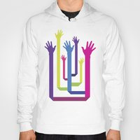 hands Hoodies featuring Hands by Sitchko Igor