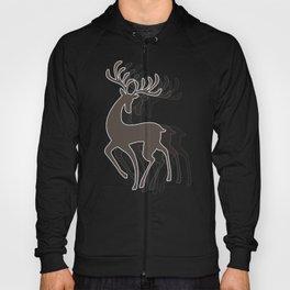 Dancing Deer - Black & White Hoody