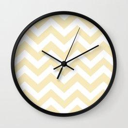Lemon meringue - pink color - Zigzag Chevron Pattern Wall Clock