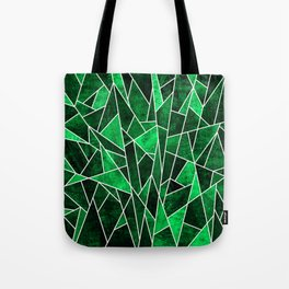 Shattered Emerald Tote Bag