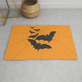 Flying Bats orange Rug