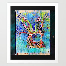 Unruly Hare Art Print