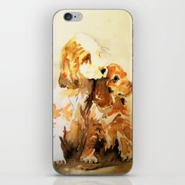 two dogs spaniel iPhone Skin