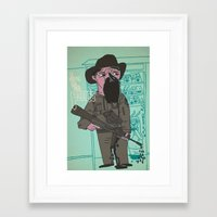 police Framed Art Prints featuring le police by liquidpig