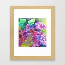 Bold Color Lilacs Framed Art Print