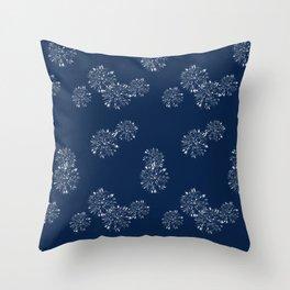 Shibori Scatter - Blue Throw Pillow
