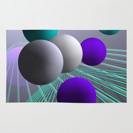 converging lines and balls -4- Rug