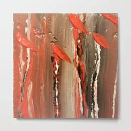 Caned red Metal Print
