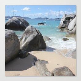 Scenic Beach at The Baths on Virgin Gorda, BVI Canvas Print