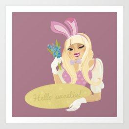 Hello sweetie! Art Print