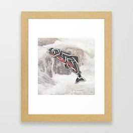 Celtic Knot Salmon Framed Art Print