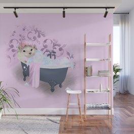 Hedgehog Bubble Bath Wall Mural