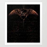 scripture Art Prints featuring Kingdom Stars Scripture 1 by KingdomStarsClothing