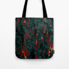 Night city glow cartoon Tote Bag