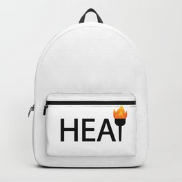 Heat bringing the heat / One word typography design Backpack