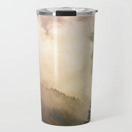 fog competes with sun Travel Mug
